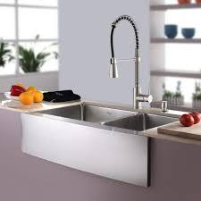 Kitchen Faucet For Farmhouse Sinks Kitchen Excellent Kraus Farmhouse Sink For Your Kitchen Ideas