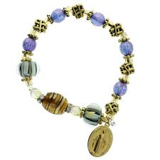 purple rosary gold purple miraculous medal rosary bracelet the catholic company