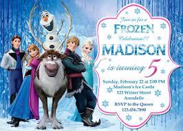 disney frozen birthday invites choice image invitation design ideas