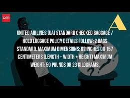 united airlines domestic baggage what is the weight limit for luggage on united airlines youtube