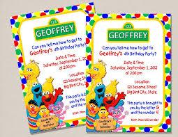 template lovely sesame street birthday invitations walmart with