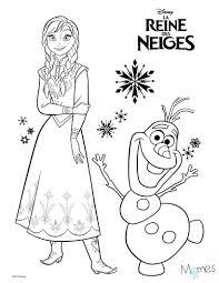 Coloriage Reine des Neiges  Anna et Olaf  dessins reines des