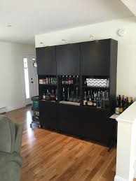 ikea besta bar and storage area storage and organization