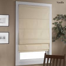 Roll Down Window Shades Decorating Pull Down Blackout Roman Shades In White For Home