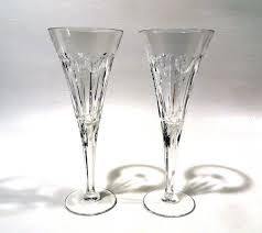 waterford toasting flutes hearts 11372