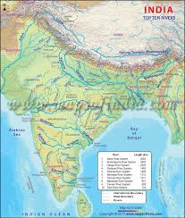 worlds rivers map top ten rivers in india