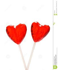 heart lollipop two heart shaped lollipops for stock photo image of