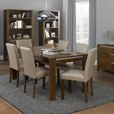 table works well in a long narrow room it leaves more room 9 pc