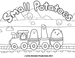 train coloring pages small potatoes coloring pages coloring