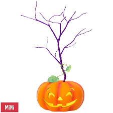 orange halloween tree halloween miniature keepsake ornament tree with light keepsake