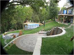 Landscaping Ideas For A Sloped Backyard by Steep Sloped Backyard Ideas Backyard Fence Ideas