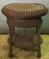 round wicker end table savannah round outdoor wicker end table all about wicker rattan end