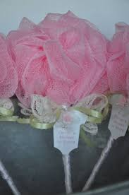shabby chic roses lace and pearls shower pink and green