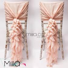 Chiffon Chair Sash Sale 2017 Wholesale Blush Chiffon Ruffled Wedding Chair Cover