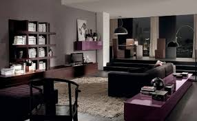 Black And Brown Home Decor Living Room Fascinating Picture Of Modern Purple Brown And Black