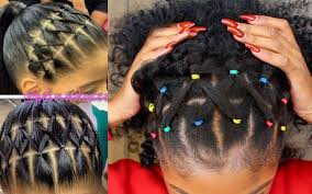 hairstyles using rubber bands rainbow rubber band braidless crochet half up half down