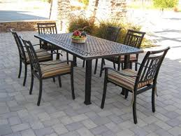 Patio Dining Set With Bench 51 Iron Table And Chairs Set G181 S Lovely Vintage Wrought