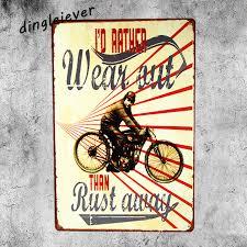 i u0027d rather wear out garage metal sign home decor spark plug signs