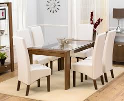 Dining Table And Chairs For 6 Glass Dining Table With 6 Chairs Dining Room Ideas