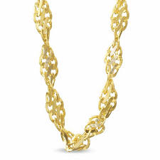 gold tone chain necklace images 2 1mm singapore chain necklace in 14k two tone gold 18 quot chains jpg