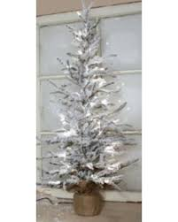 spectacular deal on pack of 2 pre lit frosted pine tree