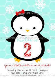penguin printable birthday invitation dimple prints shop