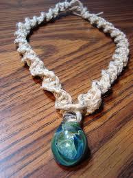 necklace hemp images Blue green glass pendant spiral knot hemp necklace by jpg