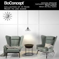Boconcept Armchair 3d Models Other Boconcept Hamilton Armchair With Scene
