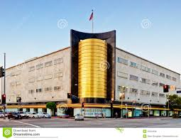 art deco architecture in los angeles editorial stock photo image