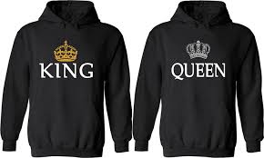 amazon com couple hoodies king u0026 queen matching his and her