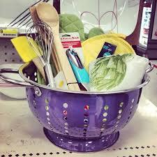 kitchen gift baskets create a kitchen gift basket in a colander giftidea