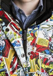 kids marvel comic print superhero snow jacket