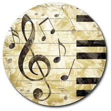 Vintage Desk Pad Vintage Piano With Treble Clef And Music Notes Mouse Pad