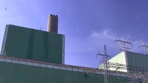 green power plant on cape cod canal 3 stock video footage