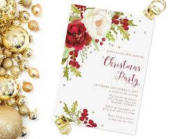 christmas party invitations elegant christmas tea invitation