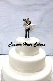 personalized wedding cake topper groom carrying bride romantic