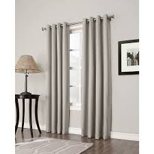 Single Blackout Curtain Shop Allen Roth Bandley 84 In Sand Polyester Grommet Blackout