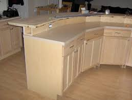 2 tier kitchen island construction detail 2 tier kitchen island with electrical in bump up