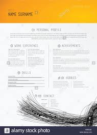 veterinarian resume template creative simple cv template with black lines in footer stock creative simple cv template with black lines in footer