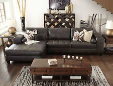 Brown Leather Sofa With Chaise Brown Sectional Sofas Loveseats Chaises Ebay