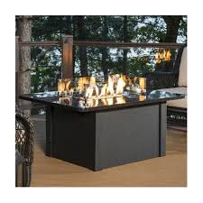 napa valley crystal fire pit table the outdoor greatroom company grandstone crystal fire pit table