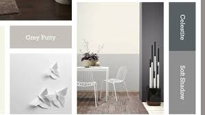 white wall decoration in modern home living room design idea with