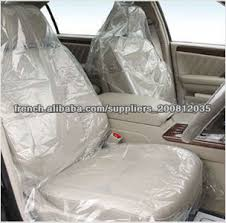 housse plastique siege auto jetable housse de siège de voiture en plastique pour un nettoyage