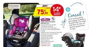 siege auto intermarché promotion siege auto pivotant groupe 0 1 dans votre magasin