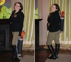 katniss costume here i am before heading out for a in district