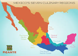map of mexico yucatan region seven regions picante