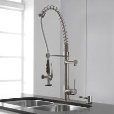 kraus commercial pre rinse chrome kitchen faucet kraus kpf1602ksd30ss single lever spiral spring kitchen faucet