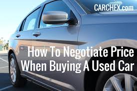 lexus price haggling how to negotiate price when buying a used car carchex
