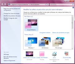 theme bureau windows comment changer le thème de windows 7
