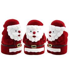 red santa claus design christmas gift ring earring ear stud